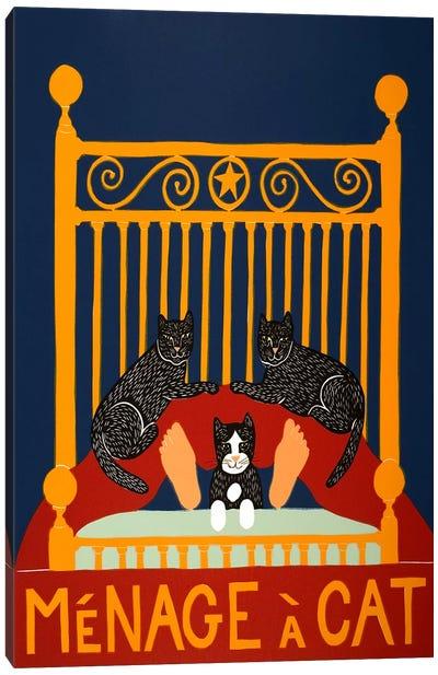 Menage A Cat Canvas Art Print