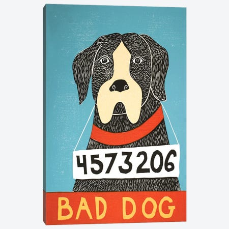 Bad Dog Boxer Canvas Print #STH7} by Stephen Huneck Canvas Print