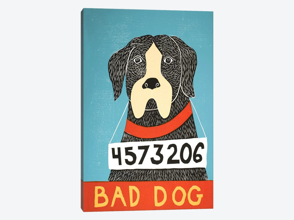 Bad Dog Boxer by Stephen Huneck 1-piece Canvas Art