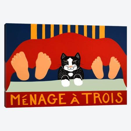 Menage A Trois Black Cat Canvas Print #STH80} by Stephen Huneck Canvas Print
