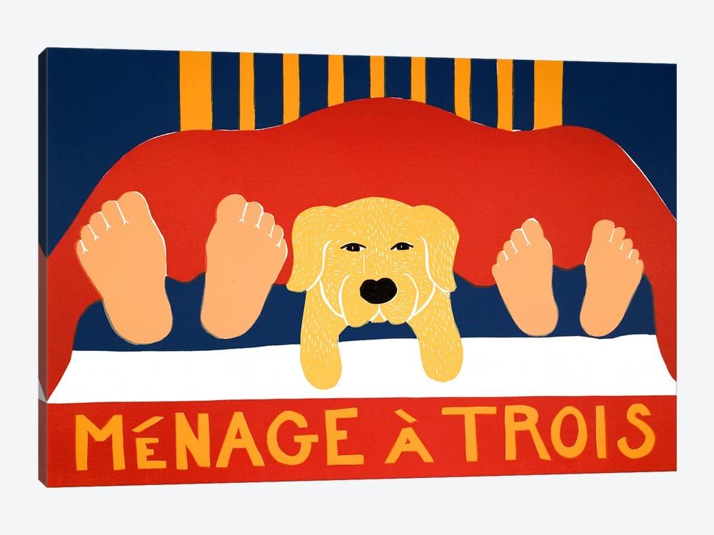 Menage Yell by Stephen Huneck 1-piece Canvas Art Print