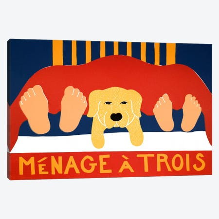 Menage Yell Canvas Print #STH82} by Stephen Huneck Canvas Print