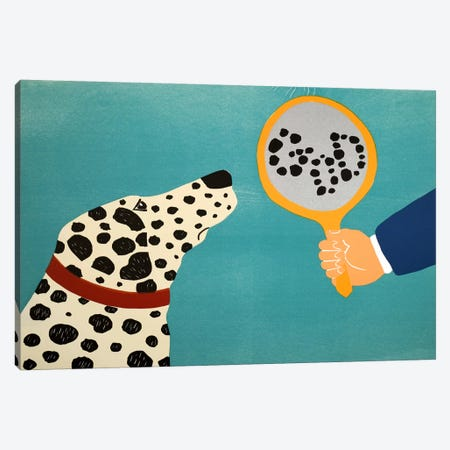 Mirror Image Of Dog Canvas Print #STH83} by Stephen Huneck Canvas Print