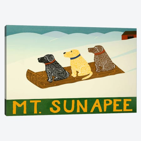 Mt. Sunapee Sled Dogs Canvas Print #STH85} by Stephen Huneck Canvas Art