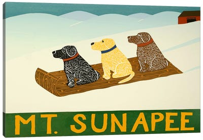 Mt. Sunapee Sled Dogs Canvas Art Print