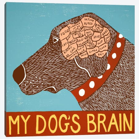 My Dogs Brain Choc Canvas Print #STH86} by Stephen Huneck Canvas Wall Art