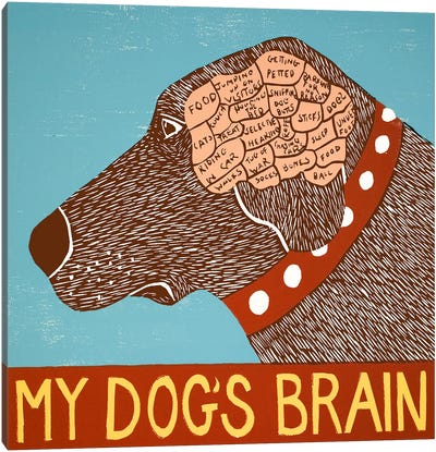 My Dogs Brain Choc Canvas Art Print