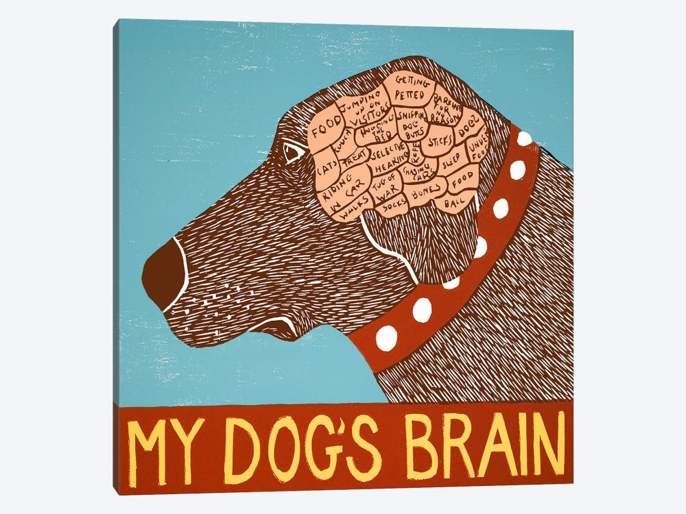 My Dogs Brain Choc by Stephen Huneck 1-piece Canvas Art Print