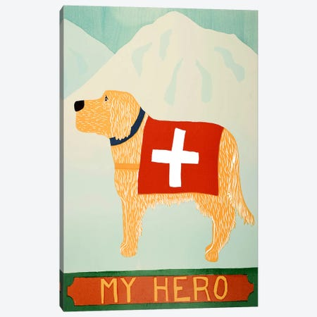 My Hero Golden Canvas Print #STH88} by Stephen Huneck Canvas Art Print
