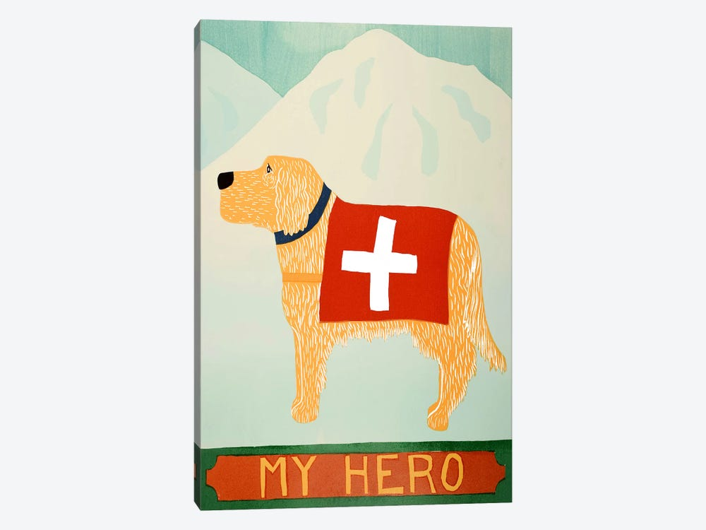 My Hero Golden by Stephen Huneck 1-piece Canvas Print