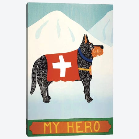 My Hero Shepard Canvas Print #STH89} by Stephen Huneck Art Print