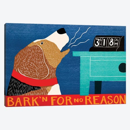 Barkin For No Reason, Beagle Canvas Print #STH92} by Stephen Huneck Canvas Art