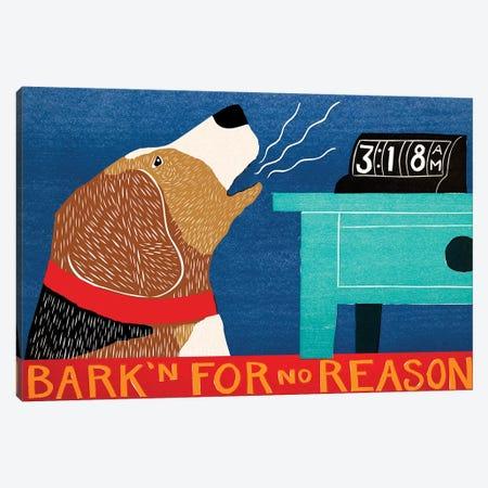 Barkin For No Reason, Beagle Canvas Print #STH92} by Stephen Huneck Canvas Art
