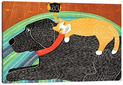 Catnap Think A Happy Thought Canvas Art Print