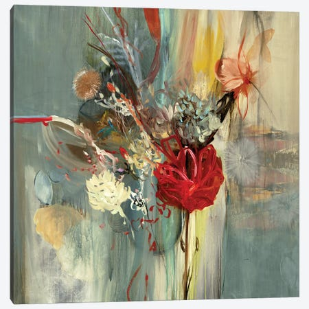 Floral Life 3-Piece Canvas #STK10} by Sarah Stockstill Art Print