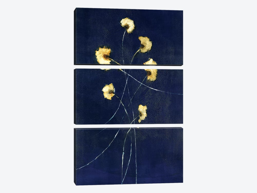 Indigo I by Sarah Stockstill 3-piece Canvas Art