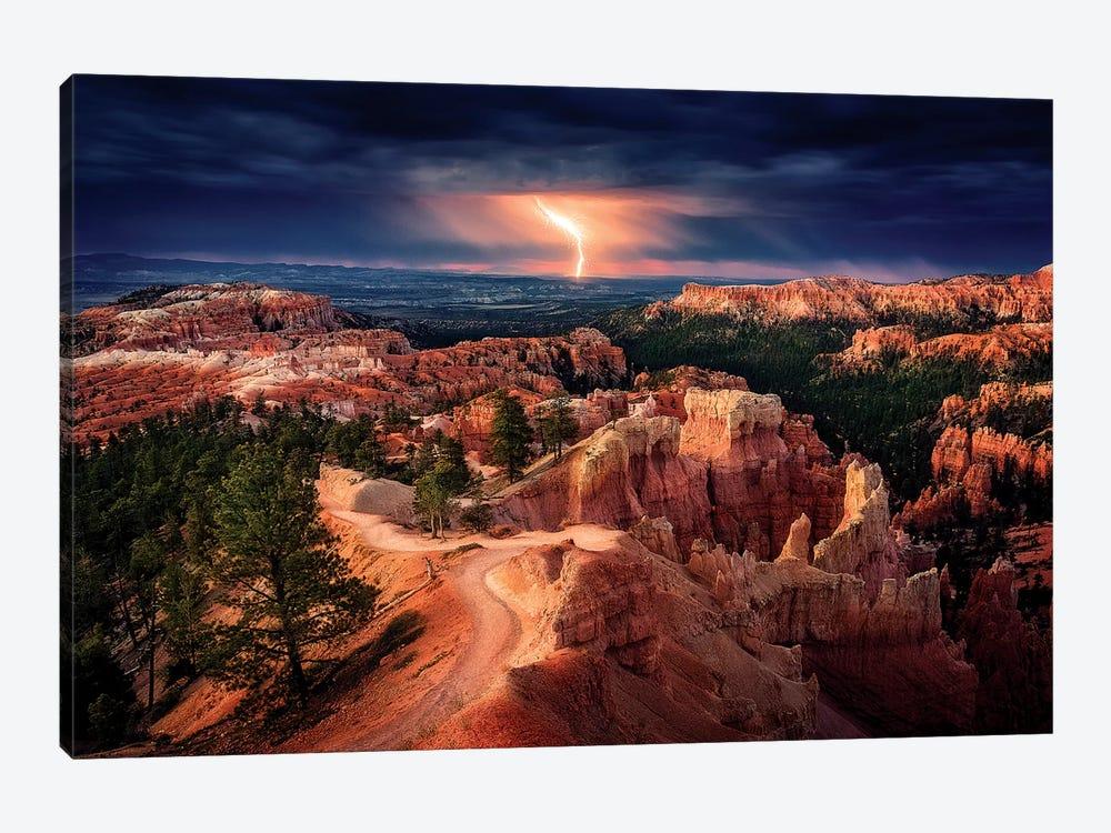 Lightning over Bryce Canyon by Stefan Mitterwallner 1-piece Art Print