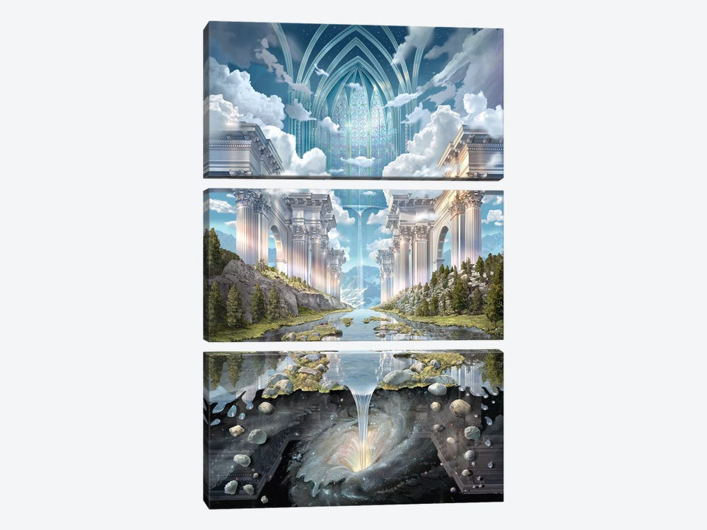 Genesis II by John Stephens 3-piece Canvas Art Print