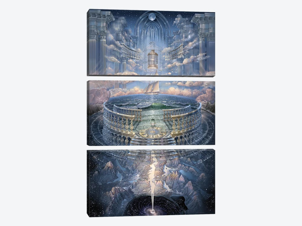 Solace II by John Stephens 3-piece Canvas Print