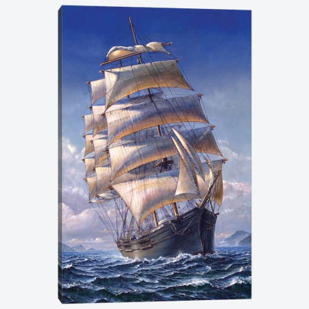 Sailing The WR Grace Canvas Print #STN5} by John Stephens Canvas Print