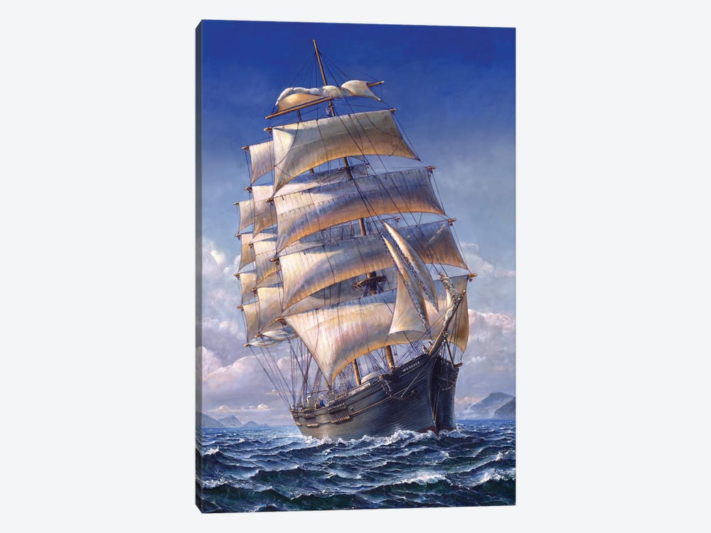 Sailing The WR Grace by John Stephens 1-piece Canvas Artwork
