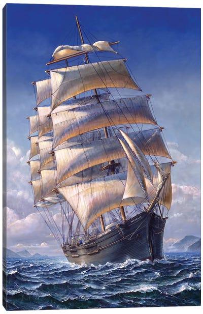 Sailing The WR Grace Canvas Art Print