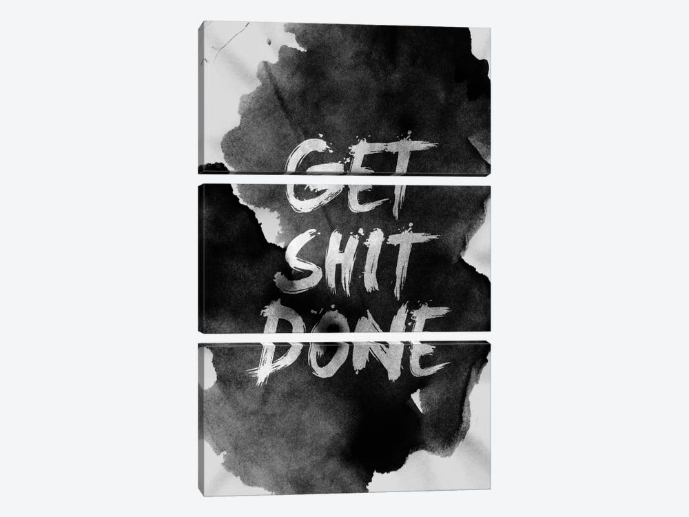 Get Shit Done by Stoian Hitrov 3-piece Canvas Art Print