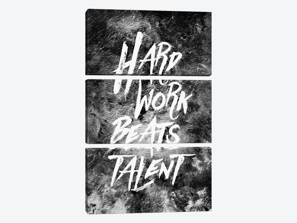 Hard Work Beats Talent by Stoian Hitrov 3-piece Canvas Artwork