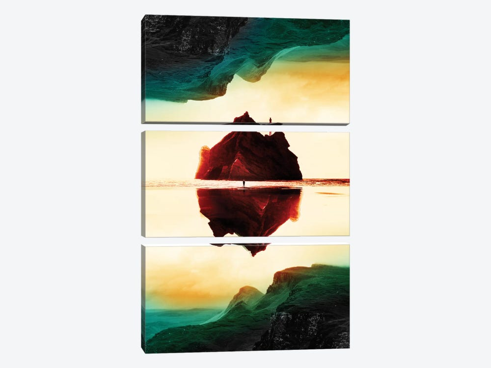 Isolation Island by Stoian Hitrov 3-piece Canvas Print