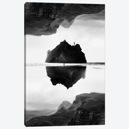 Isolation Island In B&W Canvas Print #STO13} by Stoian Hitrov Art Print