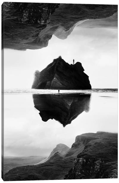 Isolation Island In B&W Canvas Print #STO13