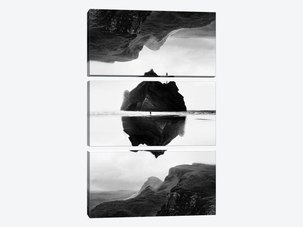 Isolation Island In B&W by Stoian Hitrov 3-piece Canvas Artwork