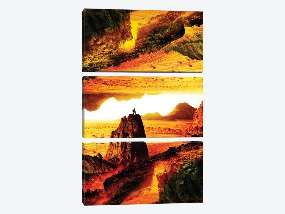 Lava Isolation by Stoian Hitrov 3-piece Canvas Print