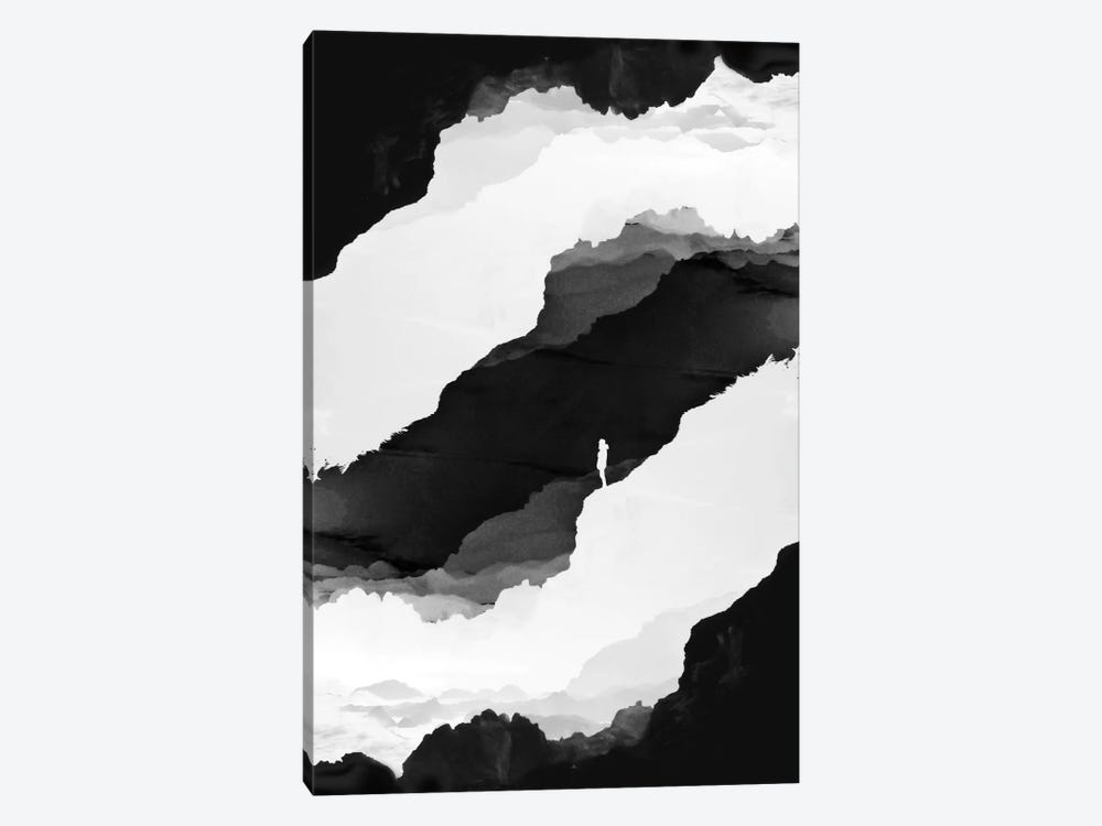 Black Isolation by Stoian Hitrov 1-piece Art Print