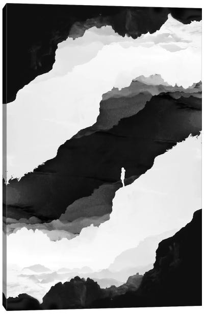 Black Isolation Canvas Art Print