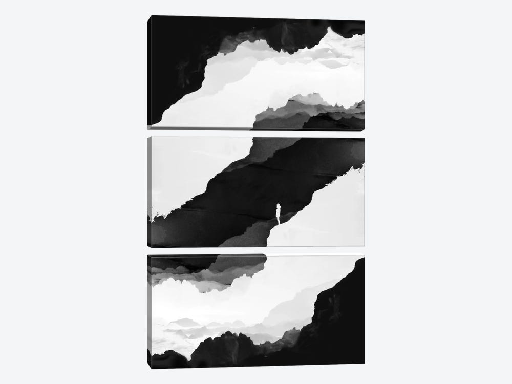 Black Isolation by Stoian Hitrov 3-piece Art Print