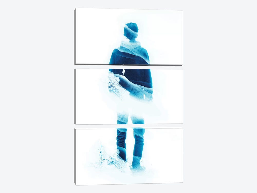 Lucid Isolation In Teal by Stoian Hitrov 3-piece Canvas Wall Art