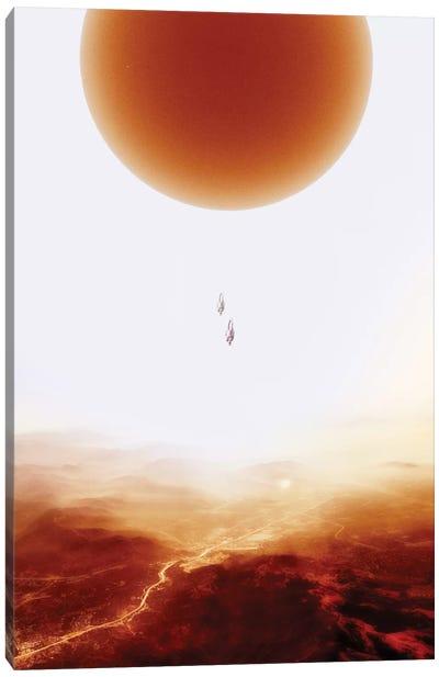 Mars Diving Canvas Art Print