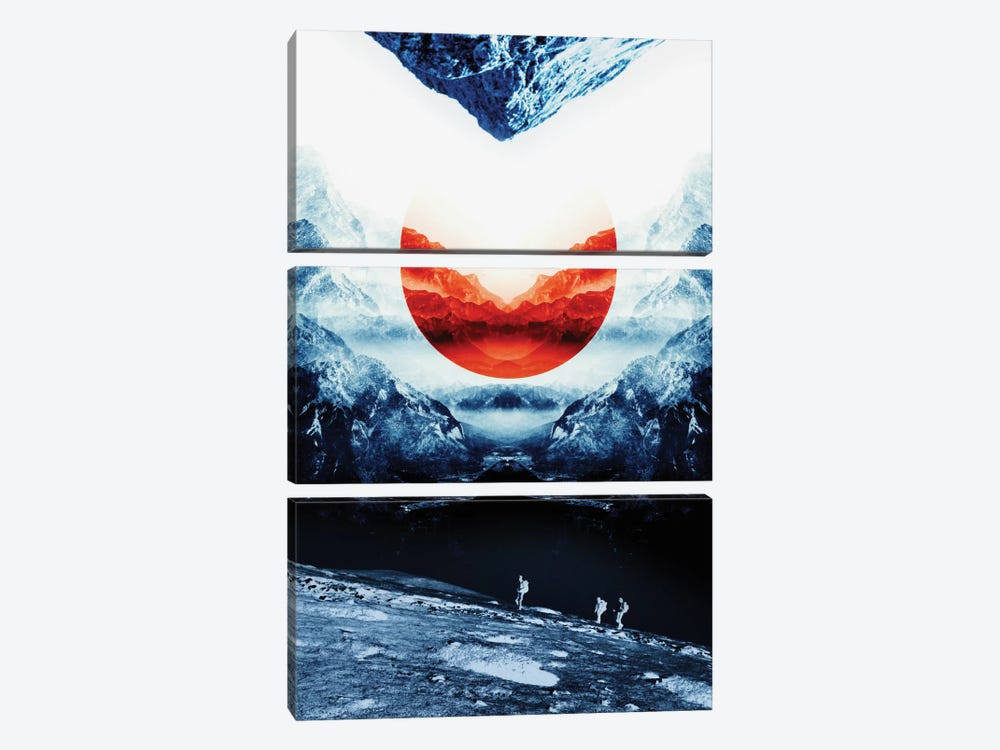 Mission Blue by Stoian Hitrov 3-piece Canvas Wall Art
