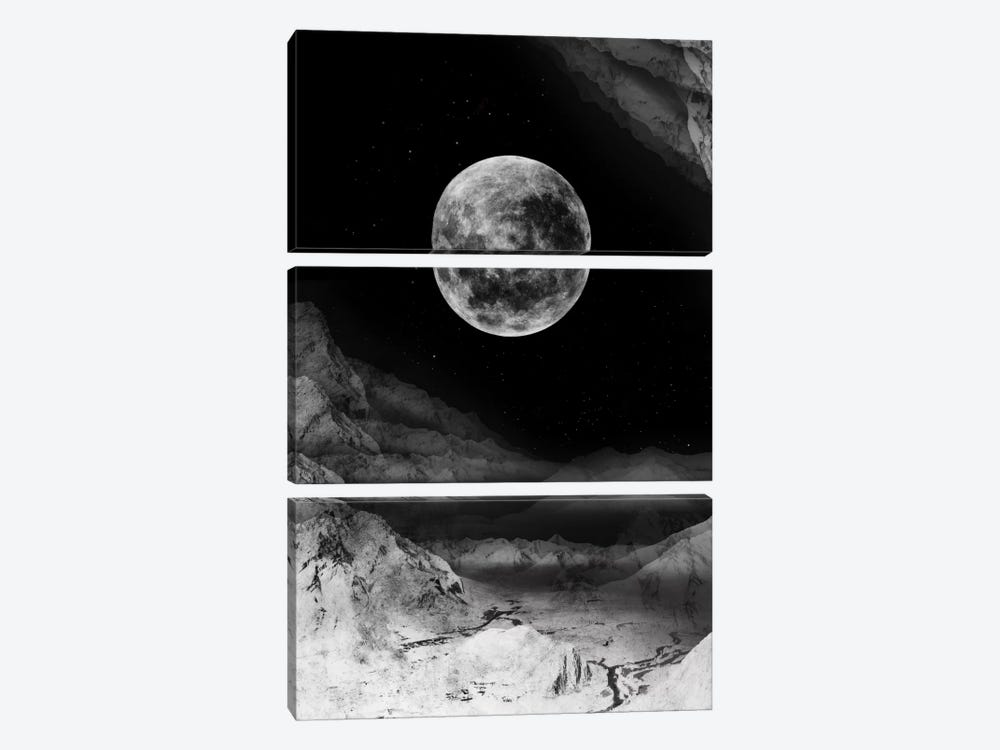 Moon by Stoian Hitrov 3-piece Canvas Art Print