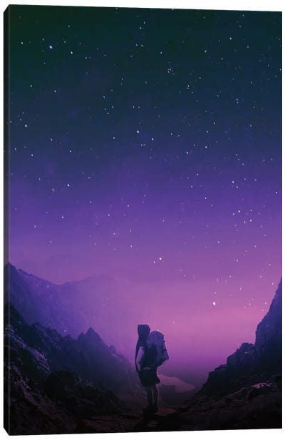 Star Series: Not All Those Who Wander Are Lost Canvas Art Print