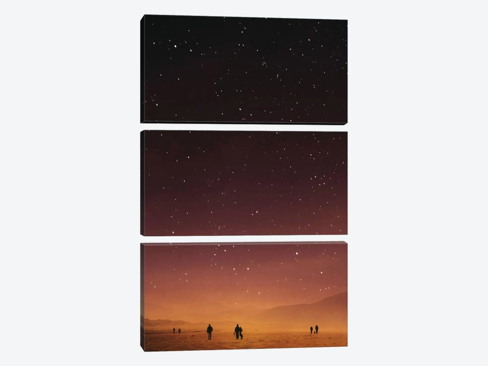 Planet Walk 3-piece Art Print