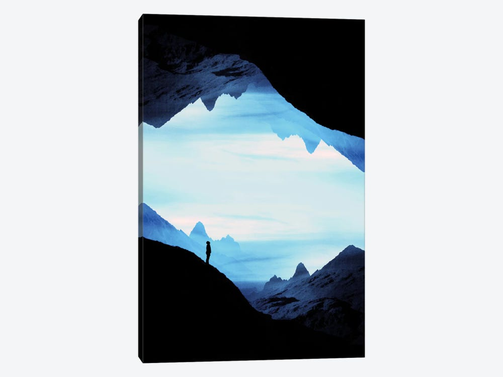 Blue Wasteland Isolation by Stoian Hitrov 1-piece Canvas Print