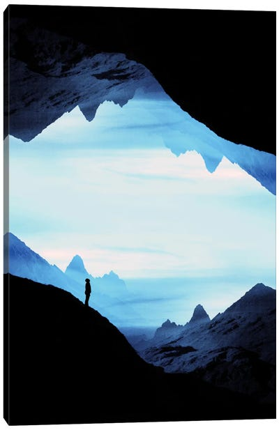 Blue Wasteland Isolation Canvas Art Print