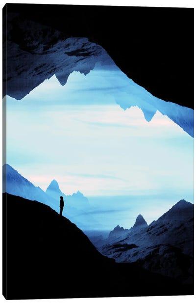 Blue Wasteland Isolation Canvas Art Print