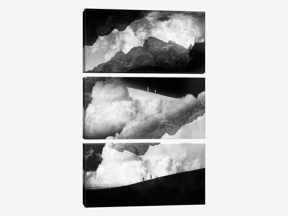 State Of Black And White Isolation by Stoian Hitrov 3-piece Canvas Print