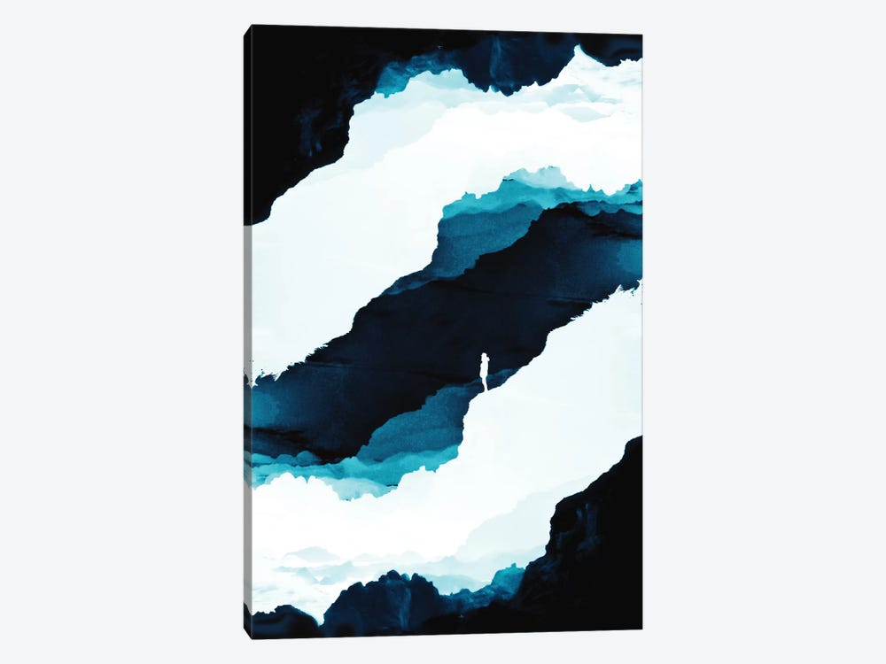 Teal Isolation by Stoian Hitrov 1-piece Canvas Art