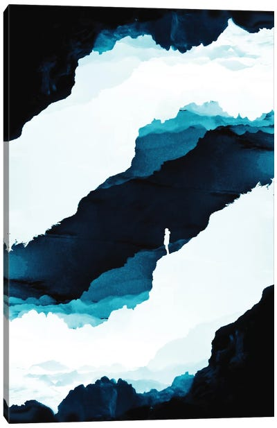 Teal Isolation Canvas Art Print
