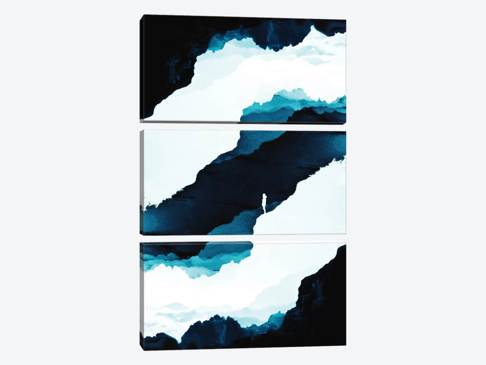 Teal Isolation by Stoian Hitrov 3-piece Canvas Art