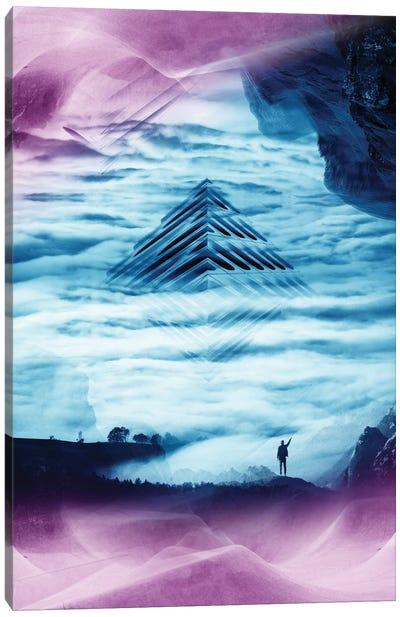 Teal Pyramid Canvas Print #STO43